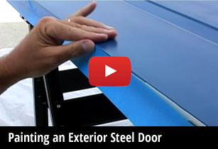Painting exterior steel doors